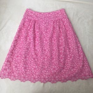 Lilly Pulitzer Floral Eyelet Skirt Scalloped 2